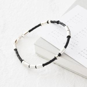 Morse code mens bracelet