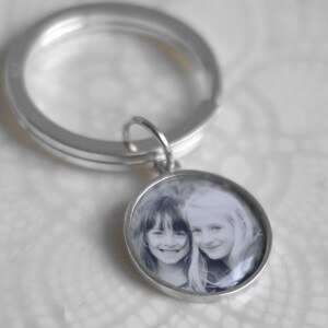 Large photo charm keyring
