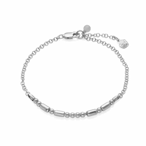 Ladies Personalised Silver Morse Code Bracelet