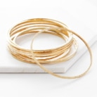 gold textured bangles