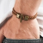 men's leather custom bracelet