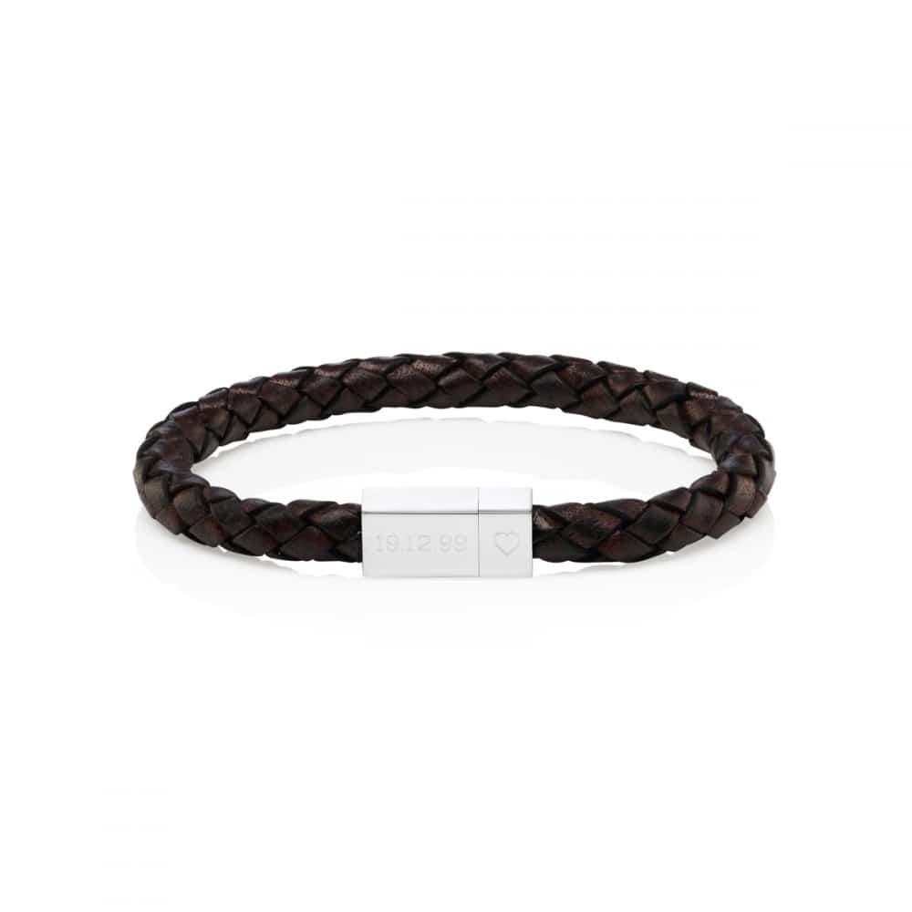 34c0790adaf1 MenMen s Personalised Bracelets · MenΓÇÖs Square Leather Engraved Bracelet  · MenΓÇÖs Square Leather Engraved Bracelet ...