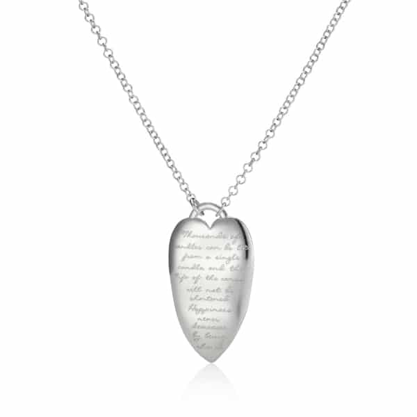 Silver heart Quote Necklace_2
