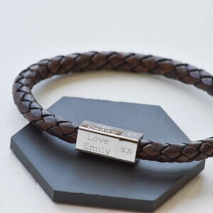father's day leather bracelet