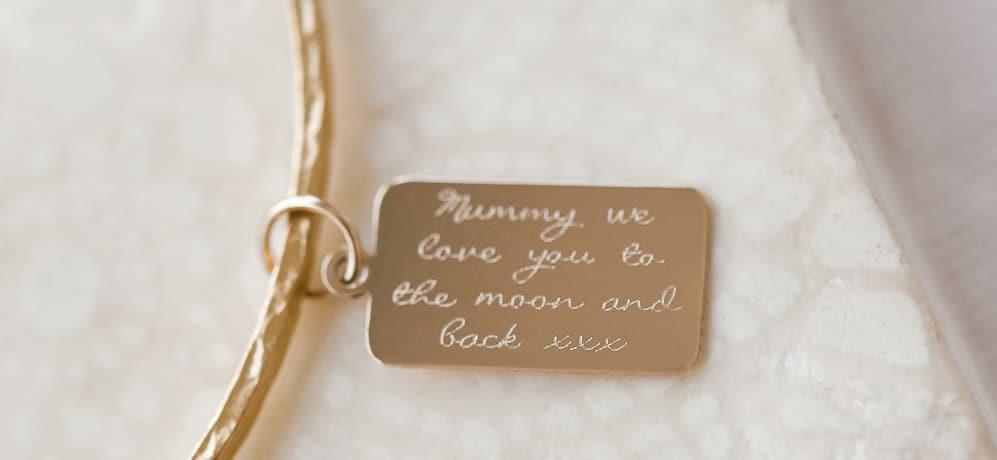 Personalised jeswellery engraving