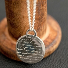 silver engraved pendant