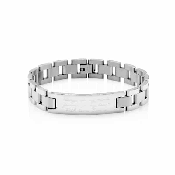 Personalised MenΓÇÖs Script Bracelet