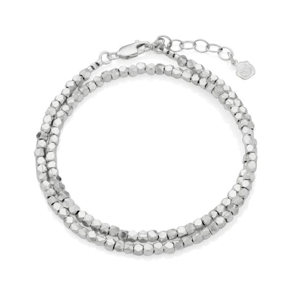 Double Silver Wrap Bracelet