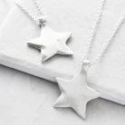 Silver shine star pendant