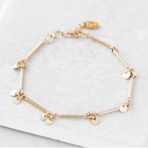 kiss kiss sequin bar bracelet