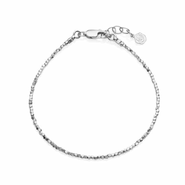 Tiny Silver Nugget Bracelet