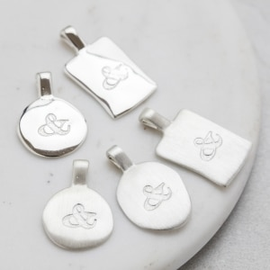 Personalised silver initial charms