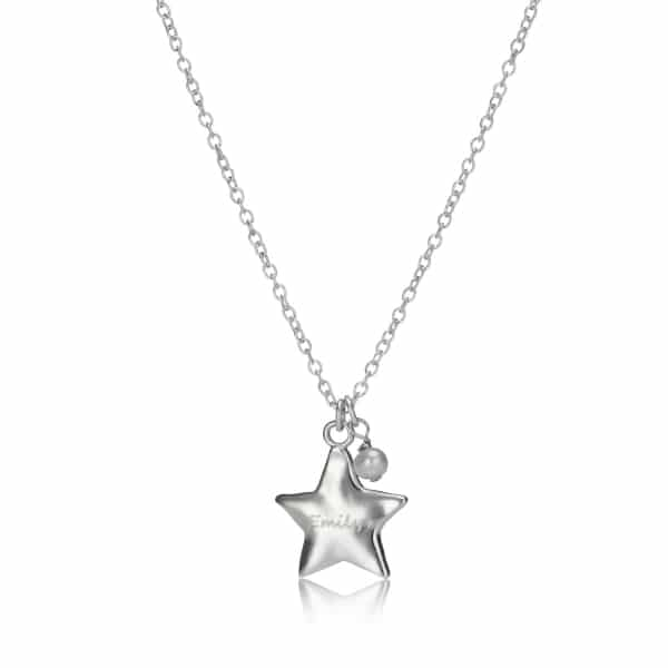 Child's personalised birthstone star necklace