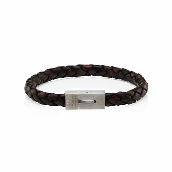 MenΓÇÖs Personalised Satin Clasp Bracelet