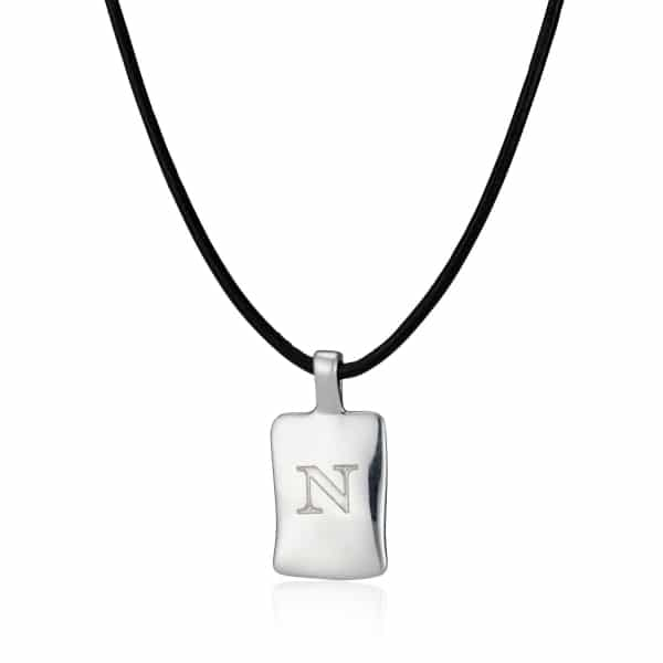 Personalised MenΓÇÖs Leather initial Necklace_1