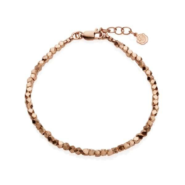 Rose Gold Nugget Bracelet