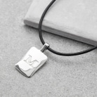 Silver Men's initial charm necklace