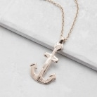 Rose Gold Anchor Necklace