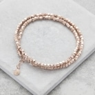 Rose Gold Double Silver Bracelet