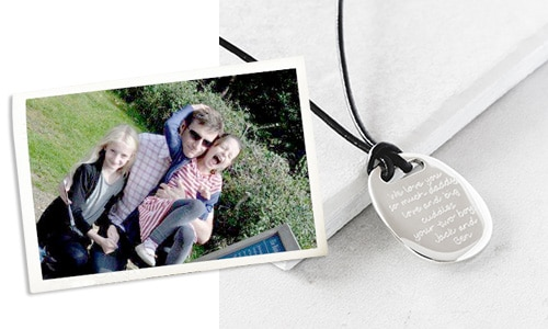 father's day personalised men's necklace