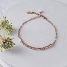 rose gold morse code bracelet