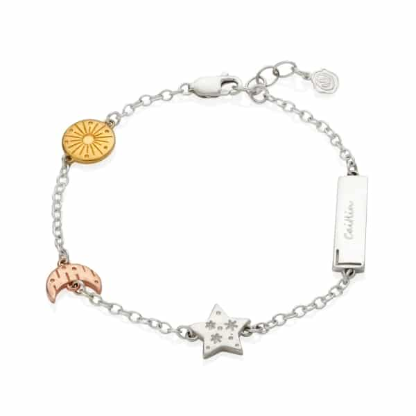 Personalised My Sun, Moon And Stars Celestial Bracelet