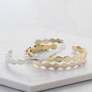 Scalloped bangle Rose Silver Gold