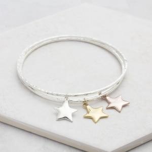 Mini Star Charm Bangle