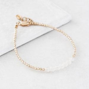 April gold Birthstone Bracelet