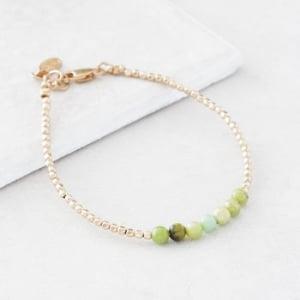 May Gold Birthstone Bracelet