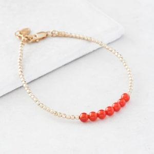July Gold Birthstone Bracelet