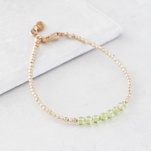 August Gold Birthstone Bracelet
