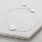 Silver Sun Anklet