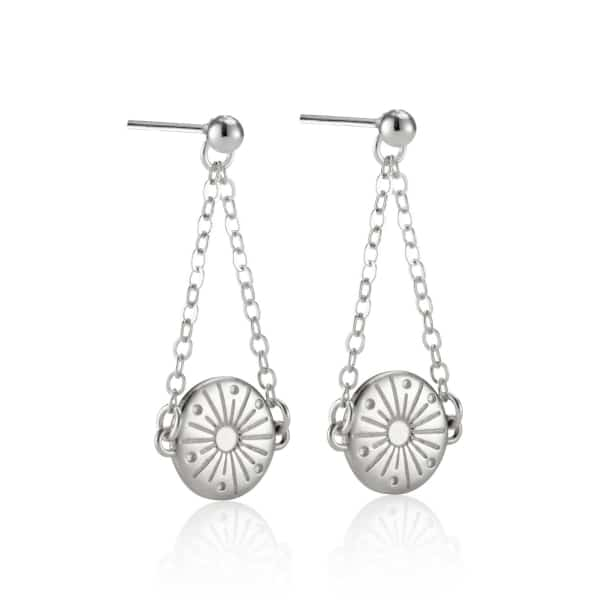 My Sunshine Silver drop earrings