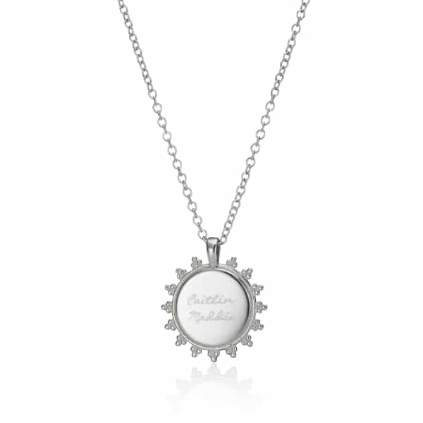 Personalised Silver Signature logo necklace