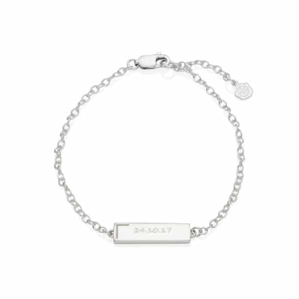 Silver Personalised Small Bar Bracelet