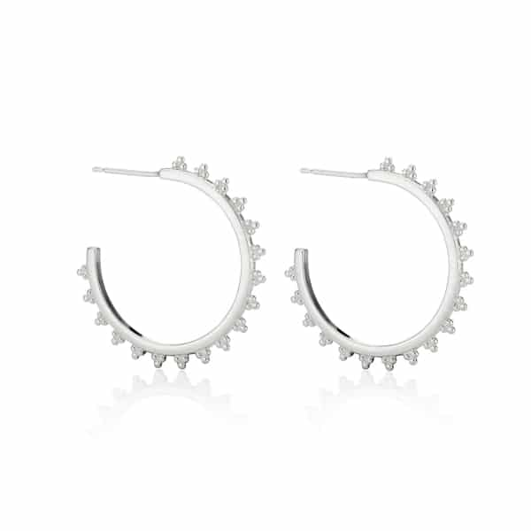 Sterling-Silver-Maxi-Signature-logo-Hoop-earrings