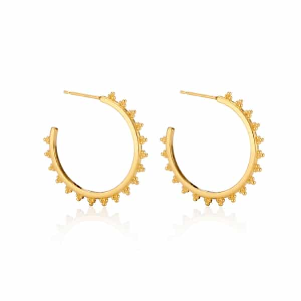Yellow-Gold-Maxi-Signature-Logo-Hoop-earrings