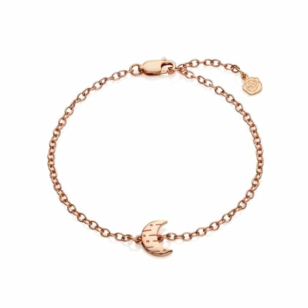 Moon and Back Barcelet Rose Gold