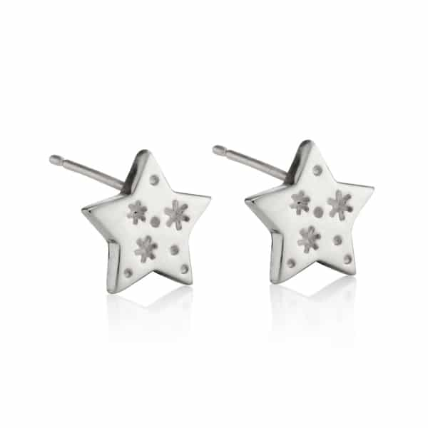 All my stars silver stud earring