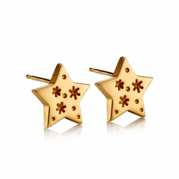 All my stars yellow gold stud