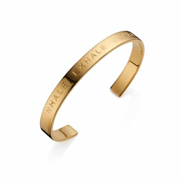 Gold Inhale Exhale Repeat Bangle