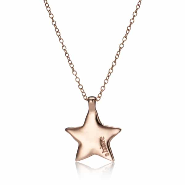 Maxi Rose Gold Star Charm Necklace_1
