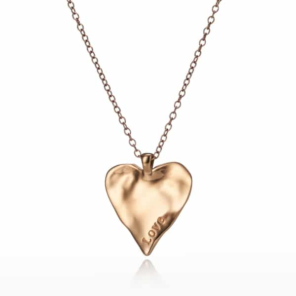 Maxi Yellow Gold Heart Charm Necklace_1
