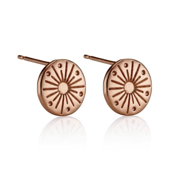 My Sunshine Rose Gold Stud Earrings