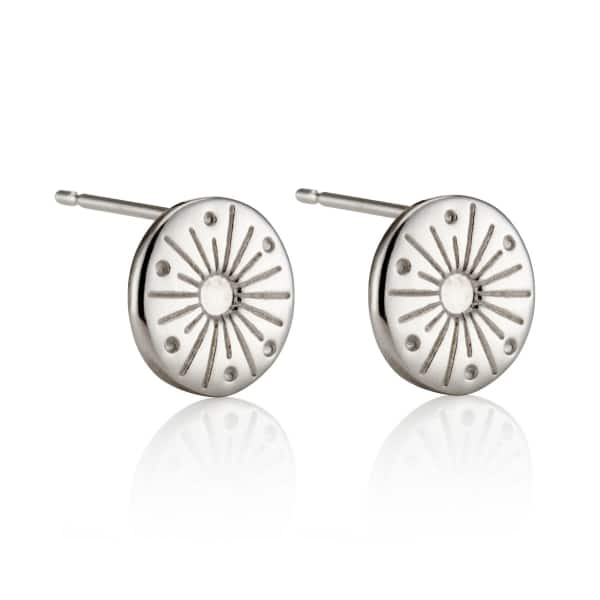 My Sunshine Silver Stud Earrings
