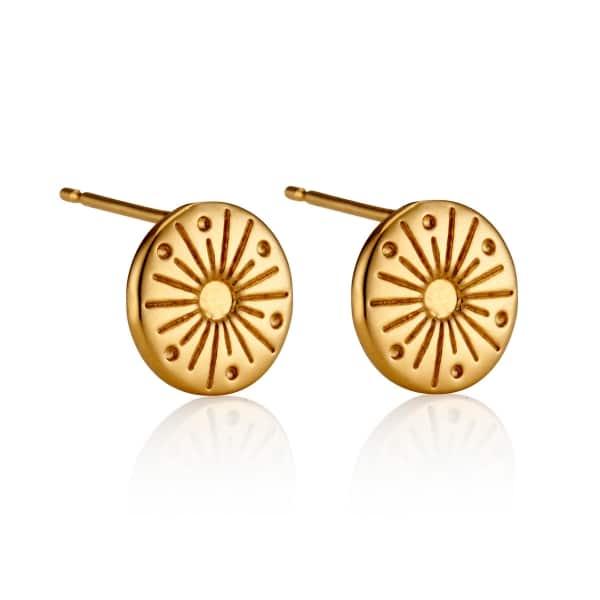 My Sunshine Yellow Gold Stud Earrings