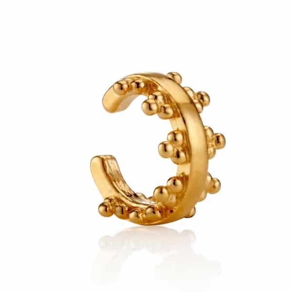 New Yellow Gold Signature Logo Earcuff