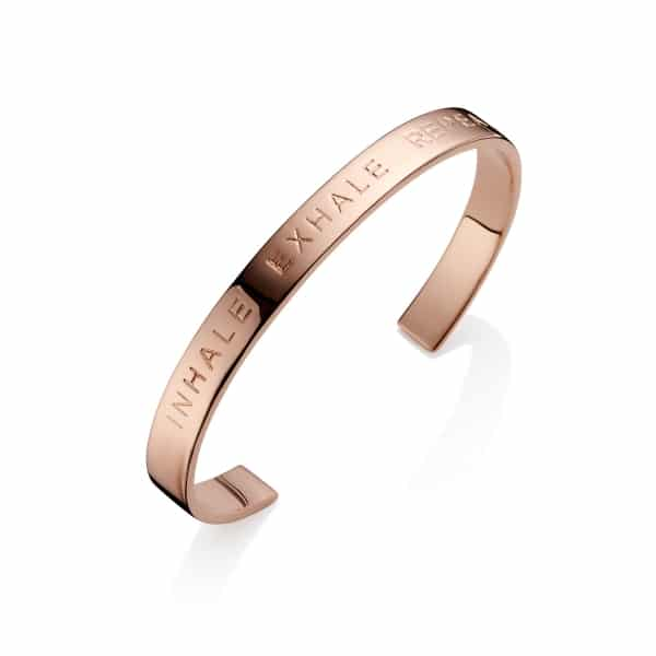 Rose Gold Inhale Exhale Repeat Bangle