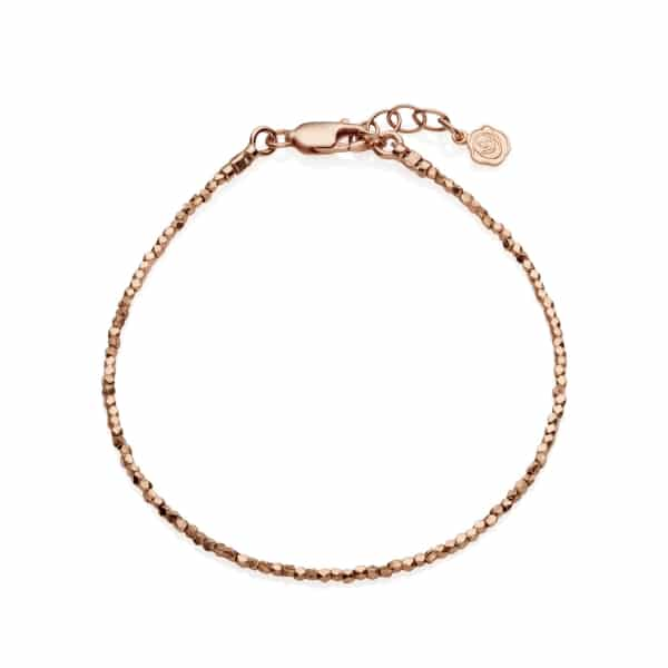 Tiny Rose Gold Nugget Bracelet